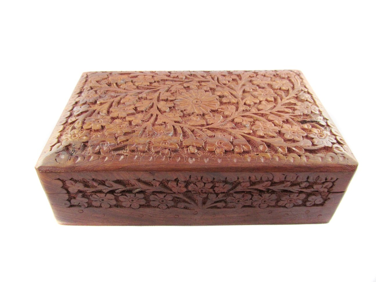 Traditional Hand Carved Craft Big Royal Wooden Jwellery Box Chest Home D Cor Online Shopping