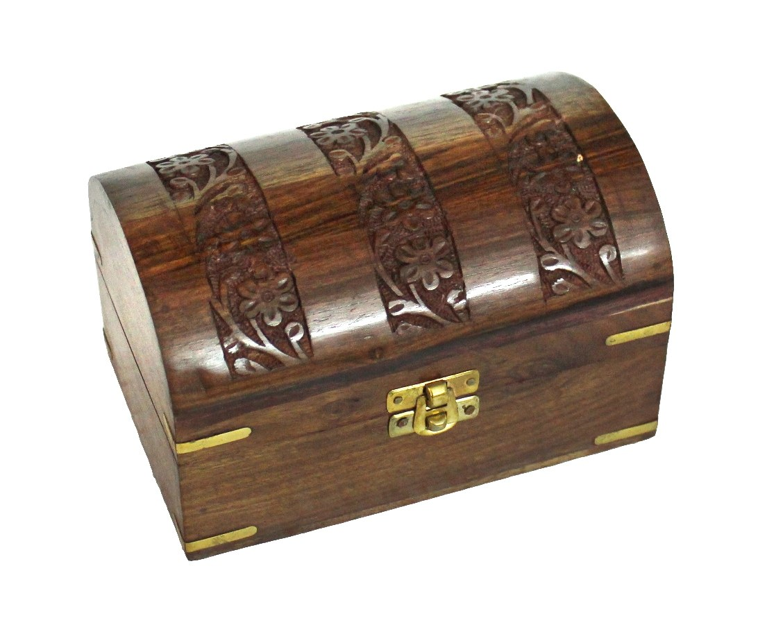 Wooden Decorative Jewellery Box Chest Home D Cor Hand Carved Gift Set Of 3 Online Shopping For