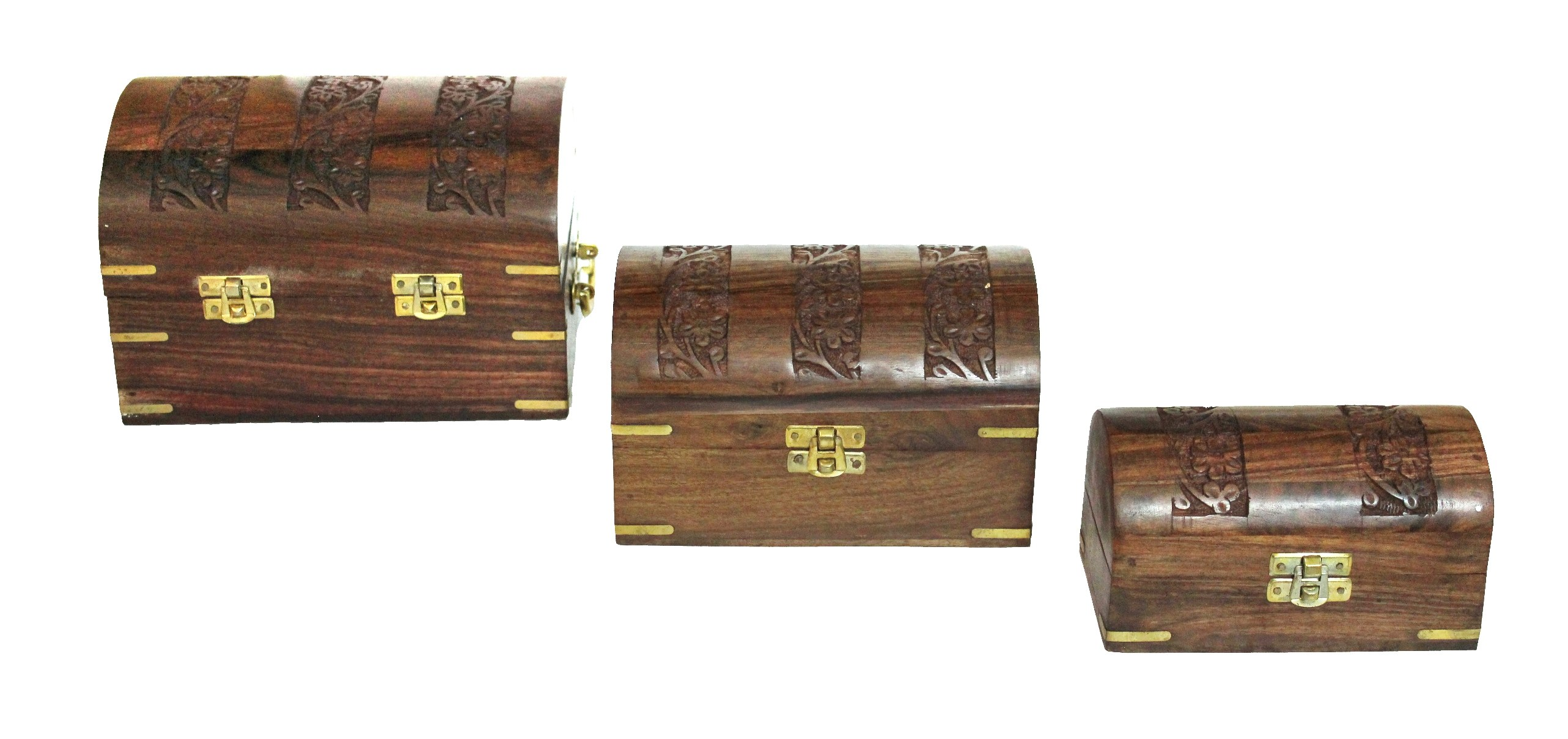 Wooden Decorative Jewellery Box Chest Home D Cor Hand