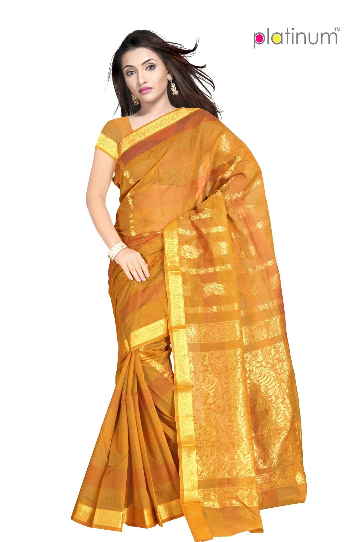 deep sunray designer zari saree ps298 online shopping for silk sarees by platinum online shopping. Black Bedroom Furniture Sets. Home Design Ideas