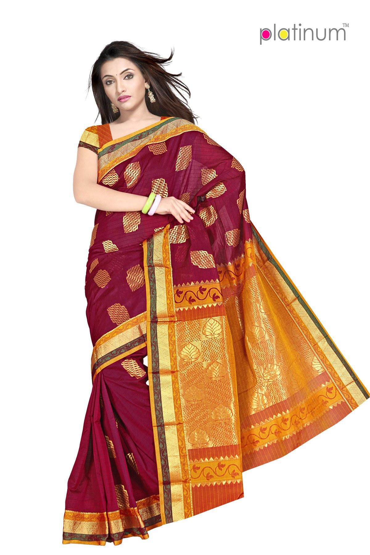 pastel maroon designer zari saree ps317 online shopping for silk sarees by platinum online. Black Bedroom Furniture Sets. Home Design Ideas