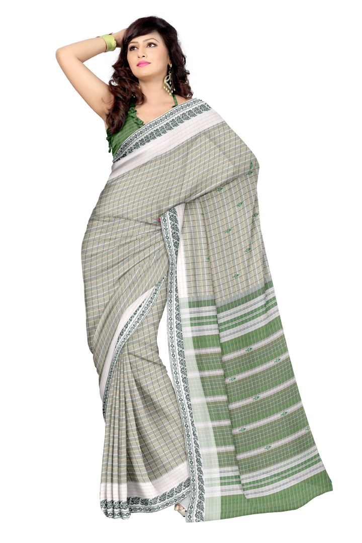 platinum traditional checked cotton saree online shopping. Black Bedroom Furniture Sets. Home Design Ideas