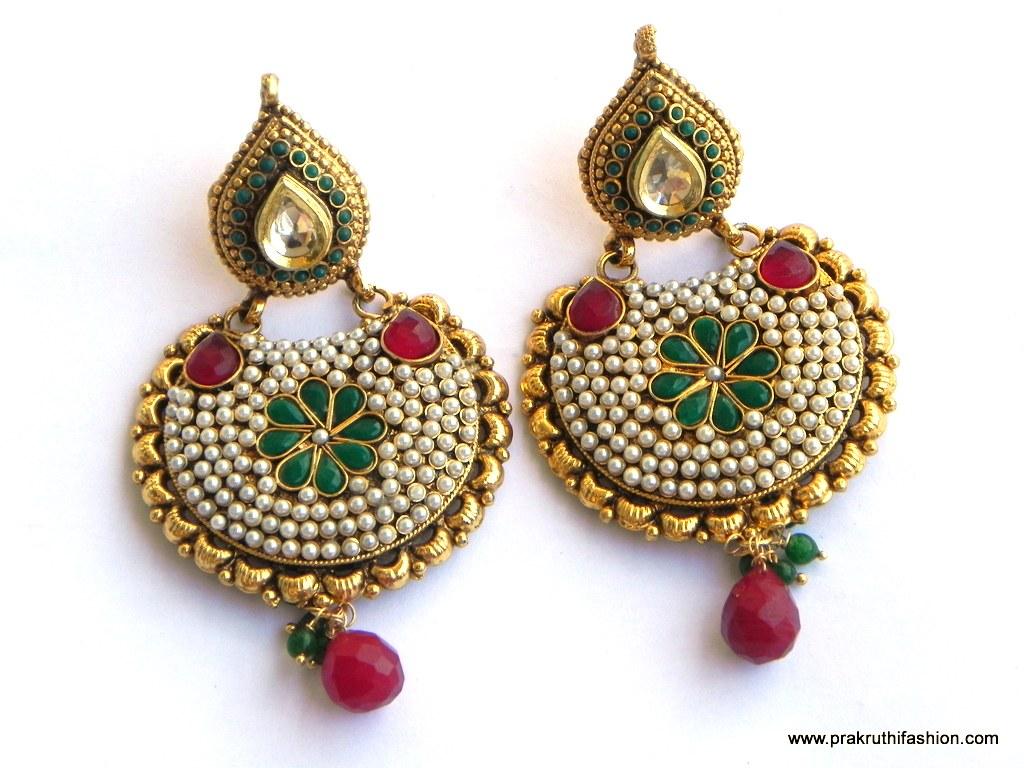 Gold Earrings Tops Designs For Women - More information - Djekova