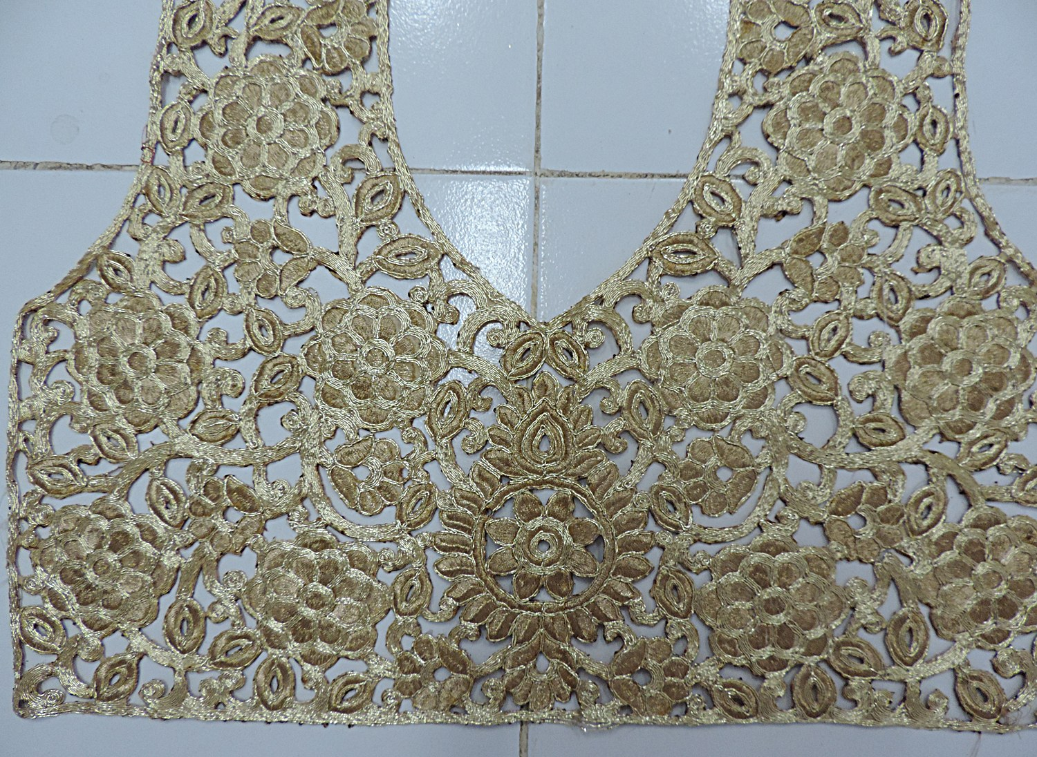 Designer Universal All In One Gold Embroidery Work Blouse