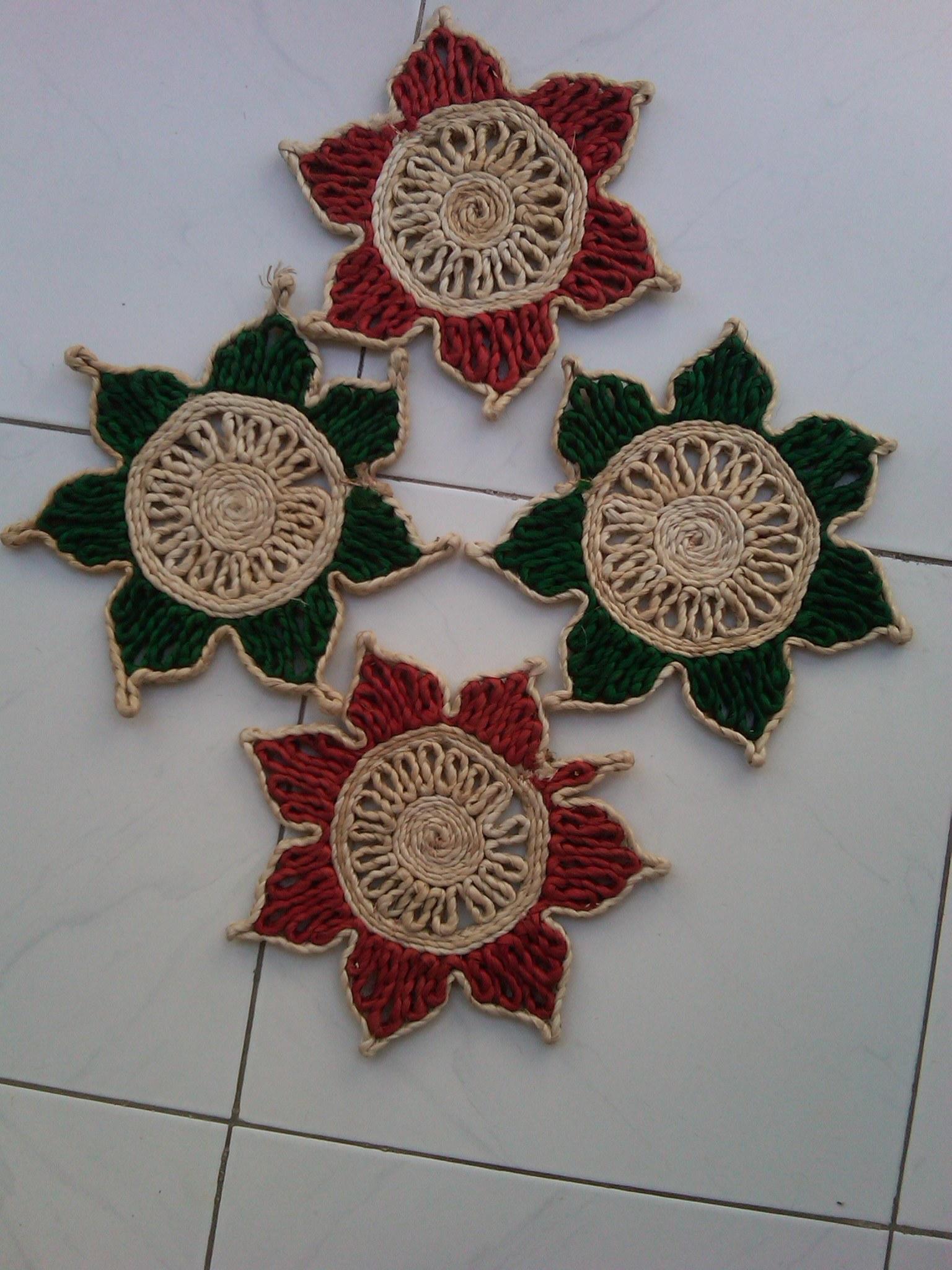 Indian Premium Jute Authentic Coasters Online Shopping