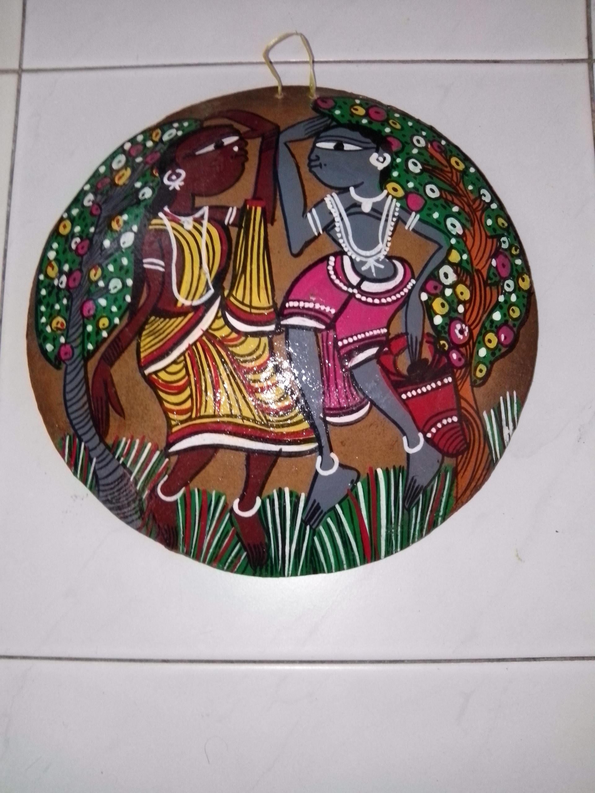 Artistic Santhal Biye Santhal Tribe Marriage Patta