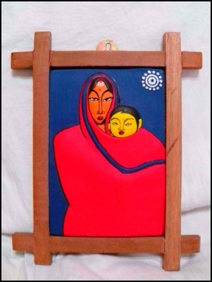 Jamini Roy Banglar Maa O Sishu Standing Online Shopping