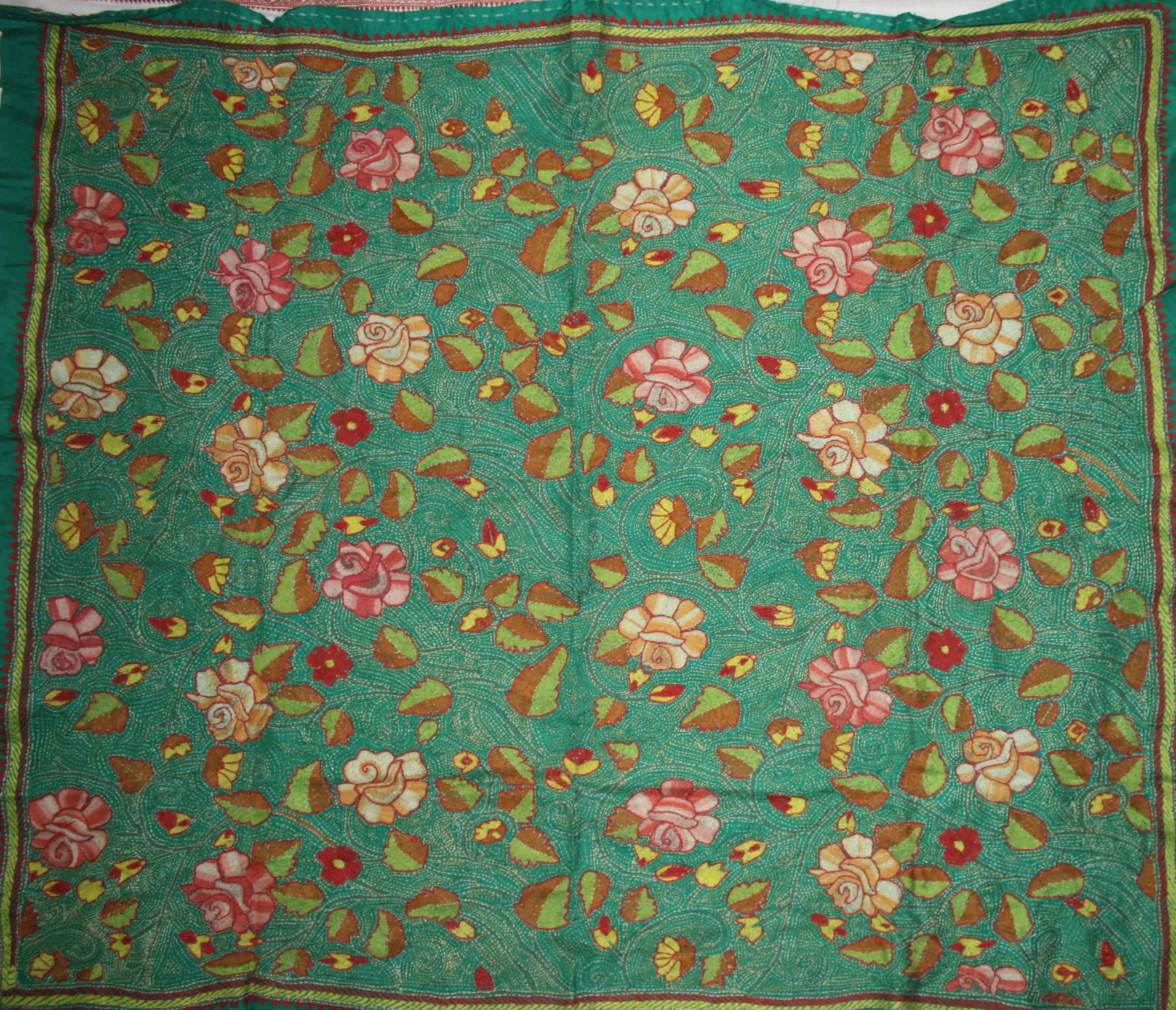Authentic Kantha Stitch Stoles to enchant this winterl-Online Shopping-