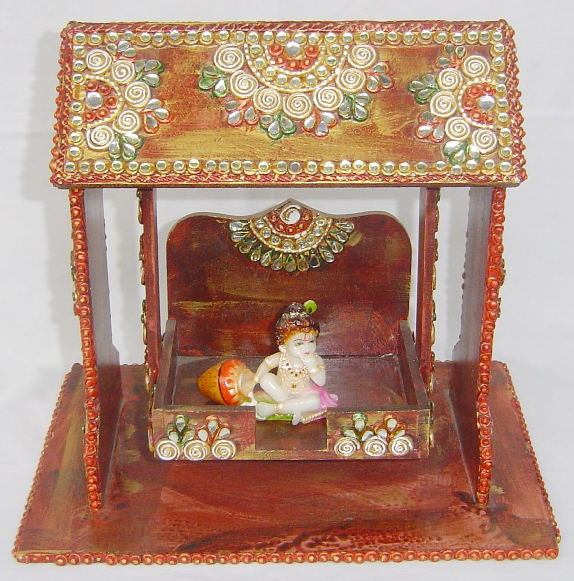 Wooden Decorative Krishna Jhula