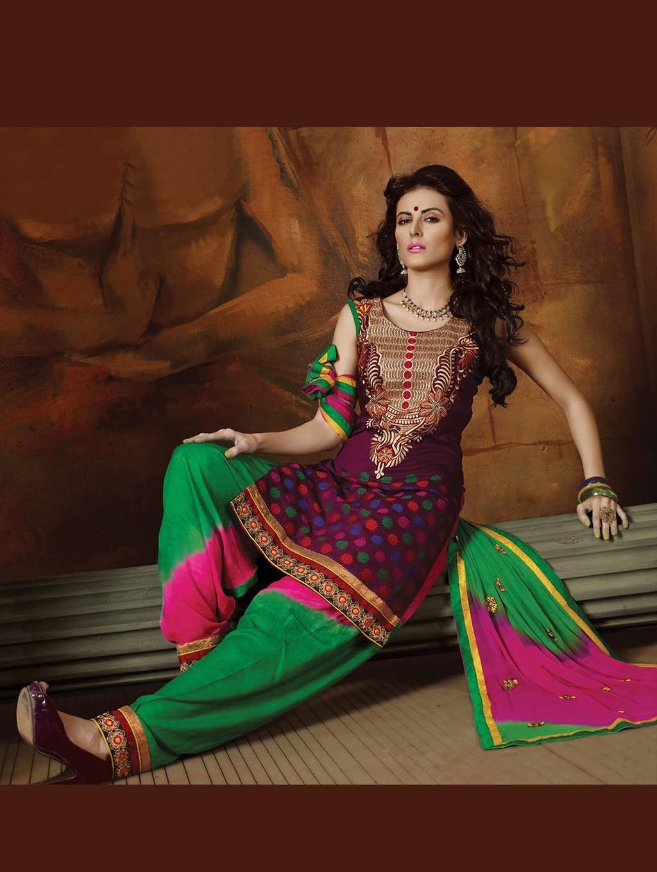 Indian designer punjabi patiyala new party wear salwar - India exotica ...