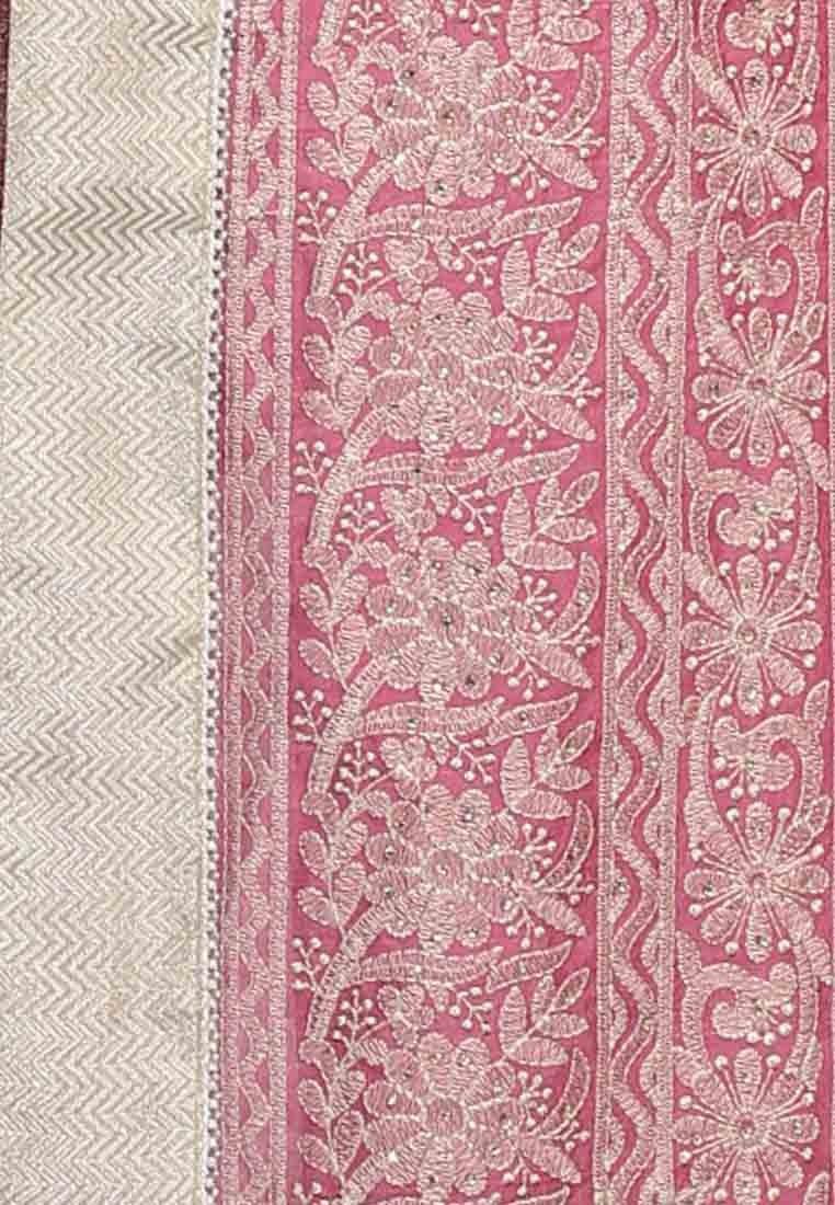 Sati Pink Coloured Art Silk Saree Online Shopping 4