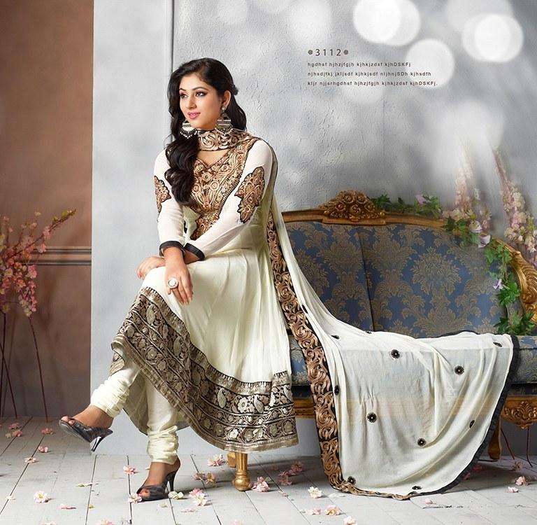 Designer Clothing Fabrics Online Designer Semi Stitch Anarkali