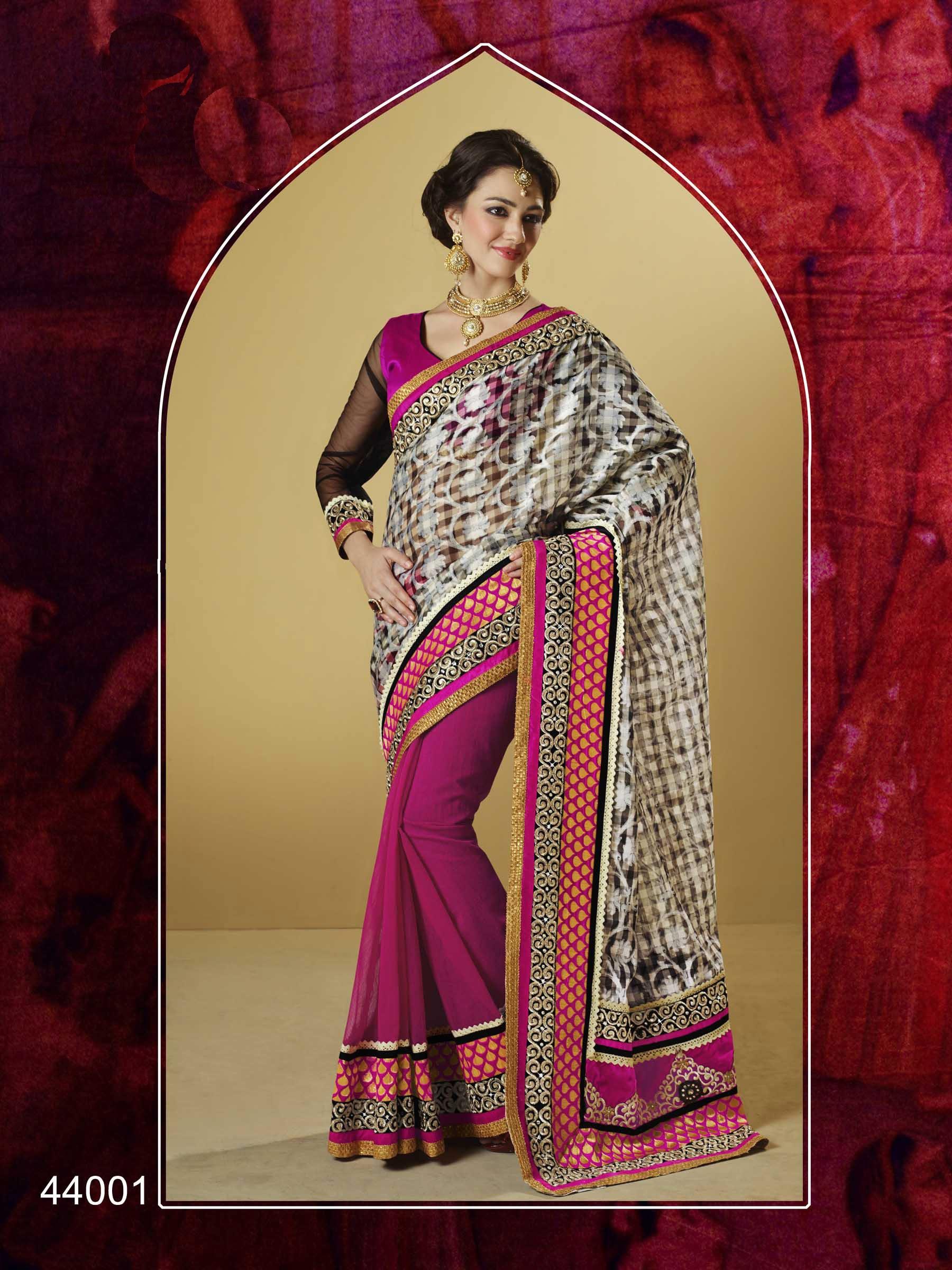 Bamboo Silk Sarees Designer Bamboo Silk Saree in