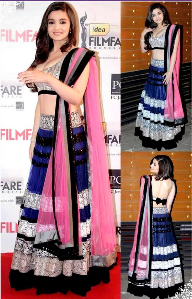 Student Of The Year Alia Bhatt Wear Blue Lehenga Choli ...