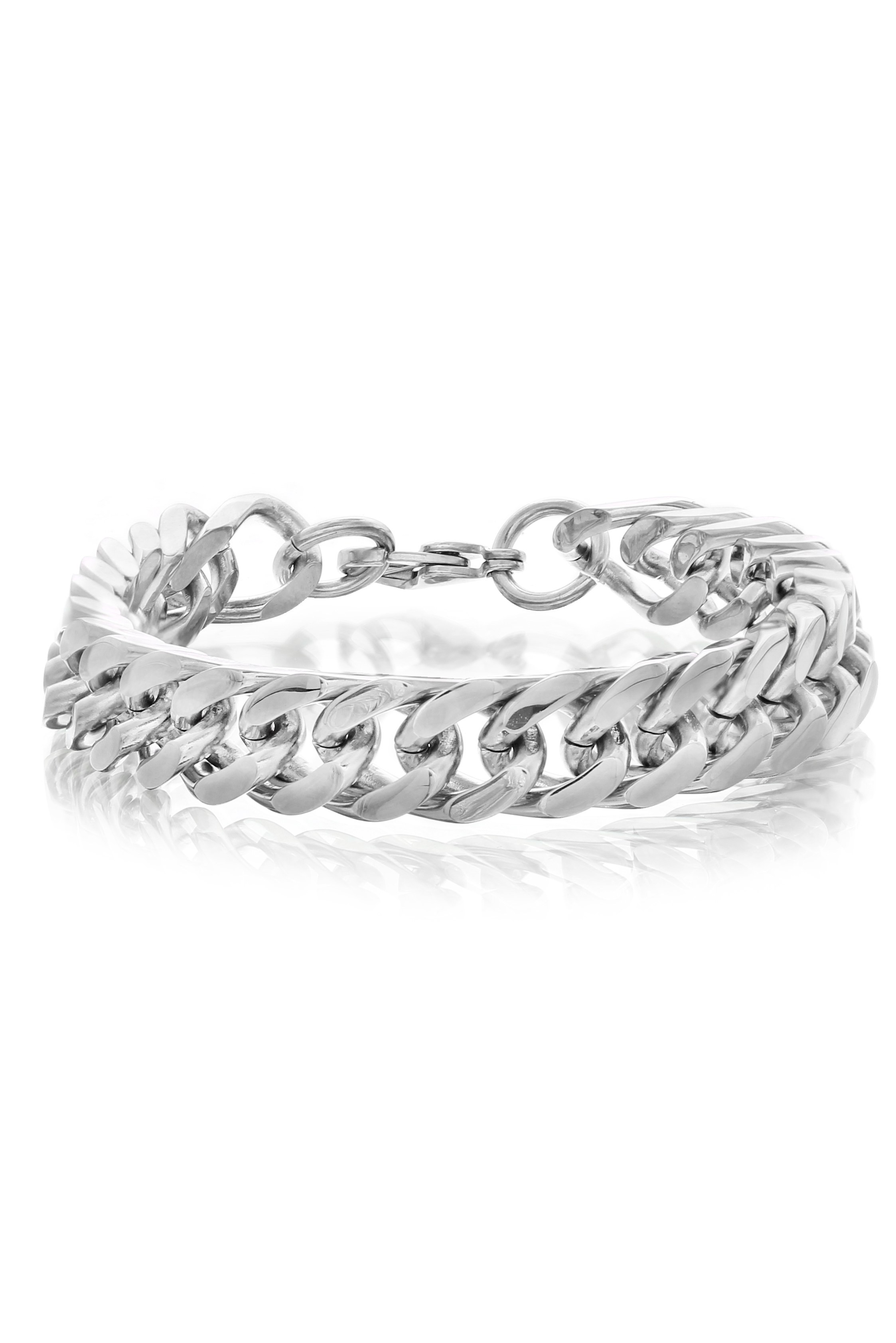 Stainless Steel curb Link Bracelet For Men available at Craftsvilla for Rs.3849