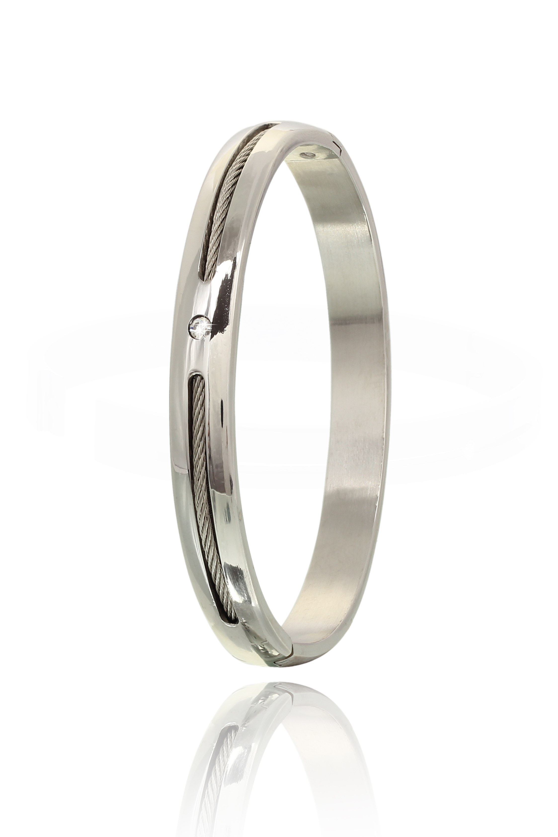 Stainless Steel Men Bracelet with Zircons available at Craftsvilla for Rs.3399