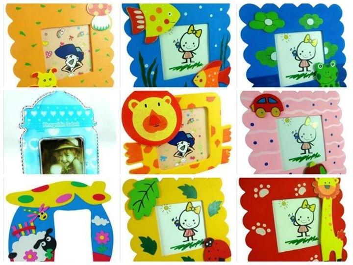Kids wooden photo frame online shopping for Annaprasana decoration