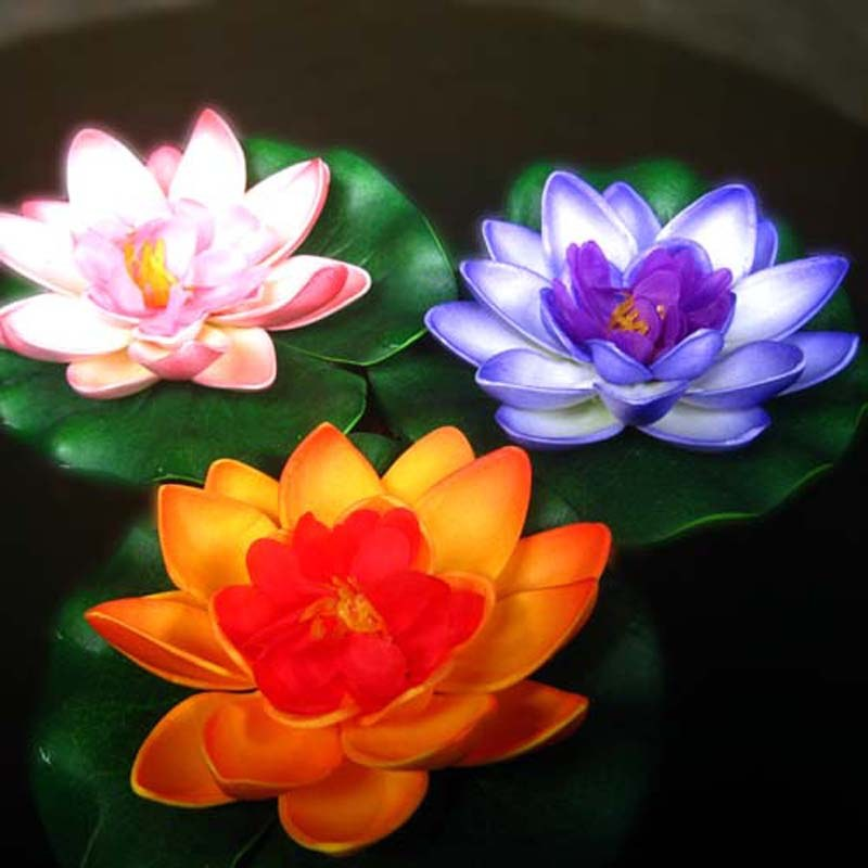 Combo Of 5 Beautiful Lotus Flowers Small-Online Shopping