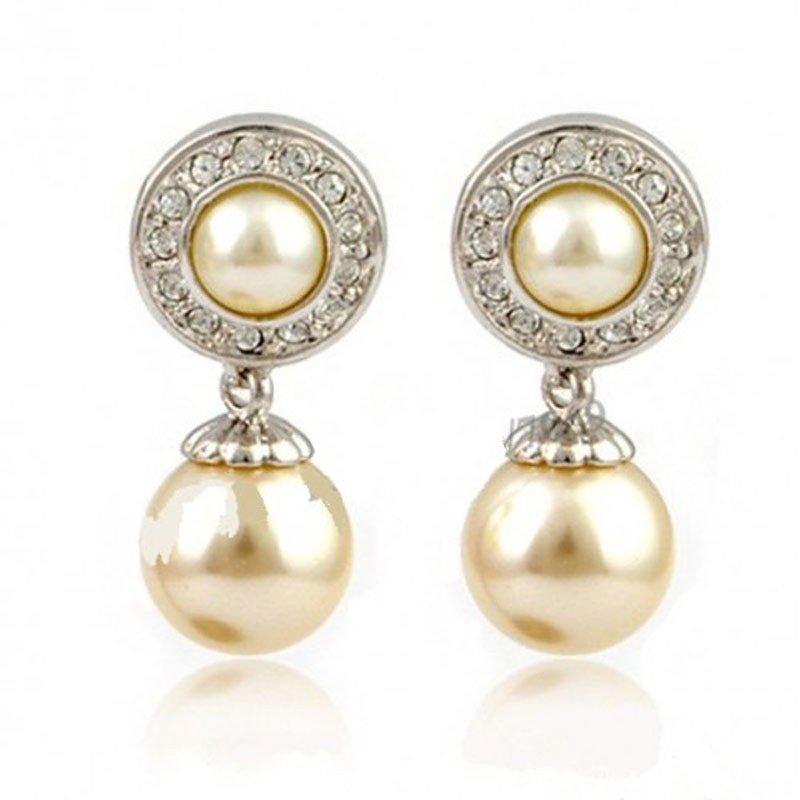 diovanni small pearl earrings shopping