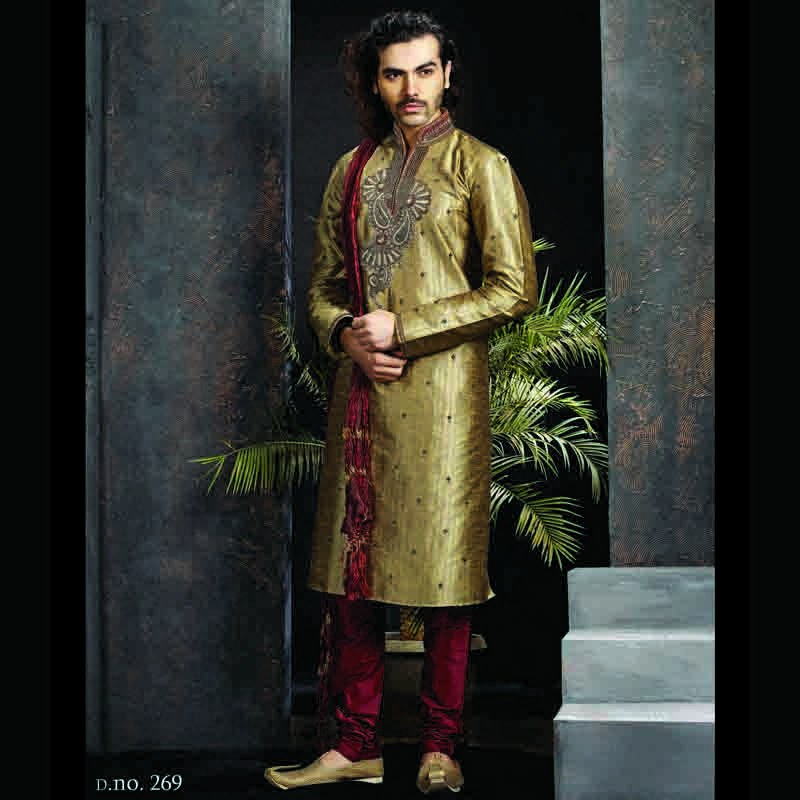 Elegant Sophisticated Wedding Kurta Churidar For Men Online Shopping