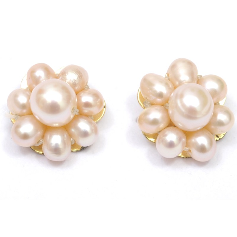 Pearl Earrings Designs Images With Polished Design And