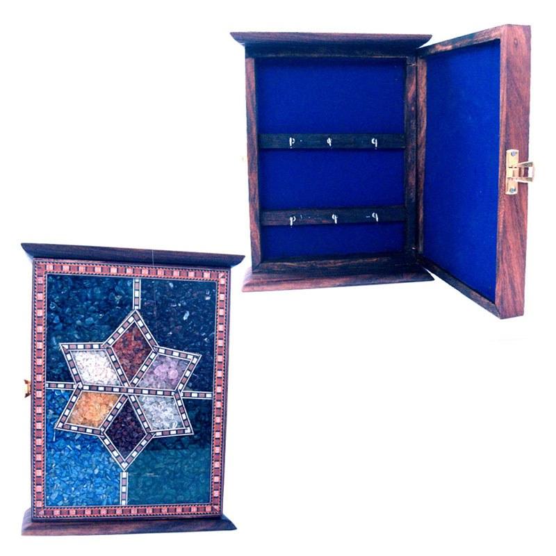 Handmade Antique Wooden Key Holder Gemstone 170 Online Shopping