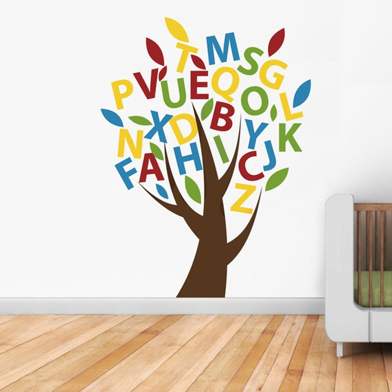 Abcd Tree Kids Room Sticker Online Shopping