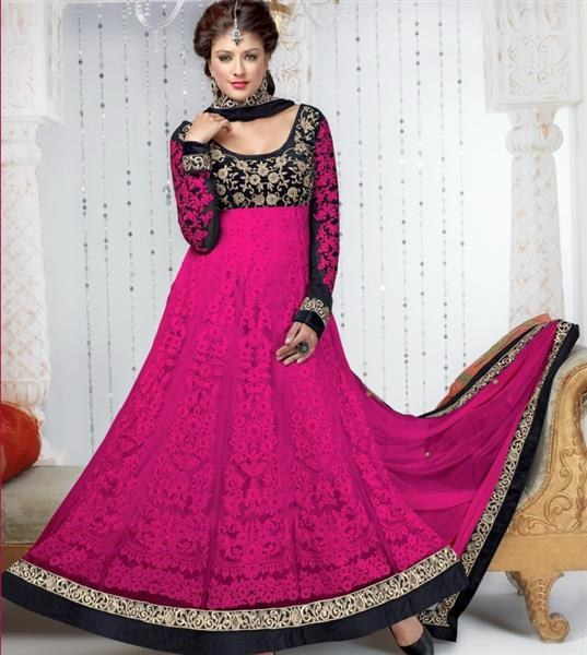 Timeless Clothes Pakistani Designer Pink Color Designer Anarkali