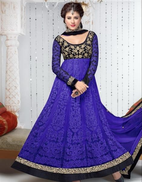 Timeless Clothes Pakistani Designer Purple amp Black Color Designer