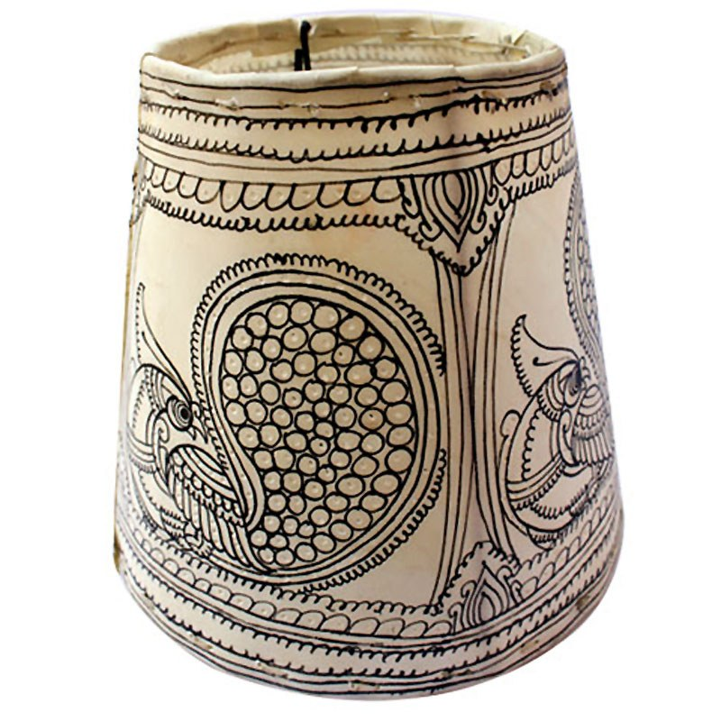 traditional indian sketched table lamp shade online shopping