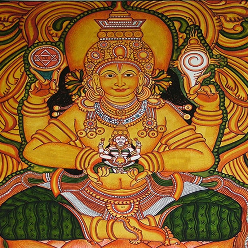 Kerala mural art adi shakthi 64 arts online shopping for Mural kerala