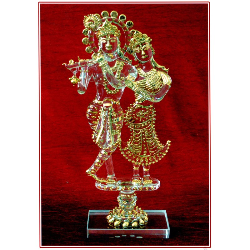 Glass Paintings of Lord Krishna And Radha of Lord Krishna And Radha