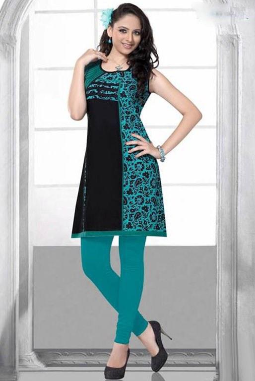 Black Amp Green Printed Kurti Baisakhi Boutique Online