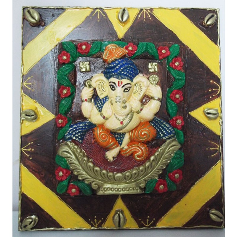 Ganesha mural farah art creations online shopping for Mural art of ganesha