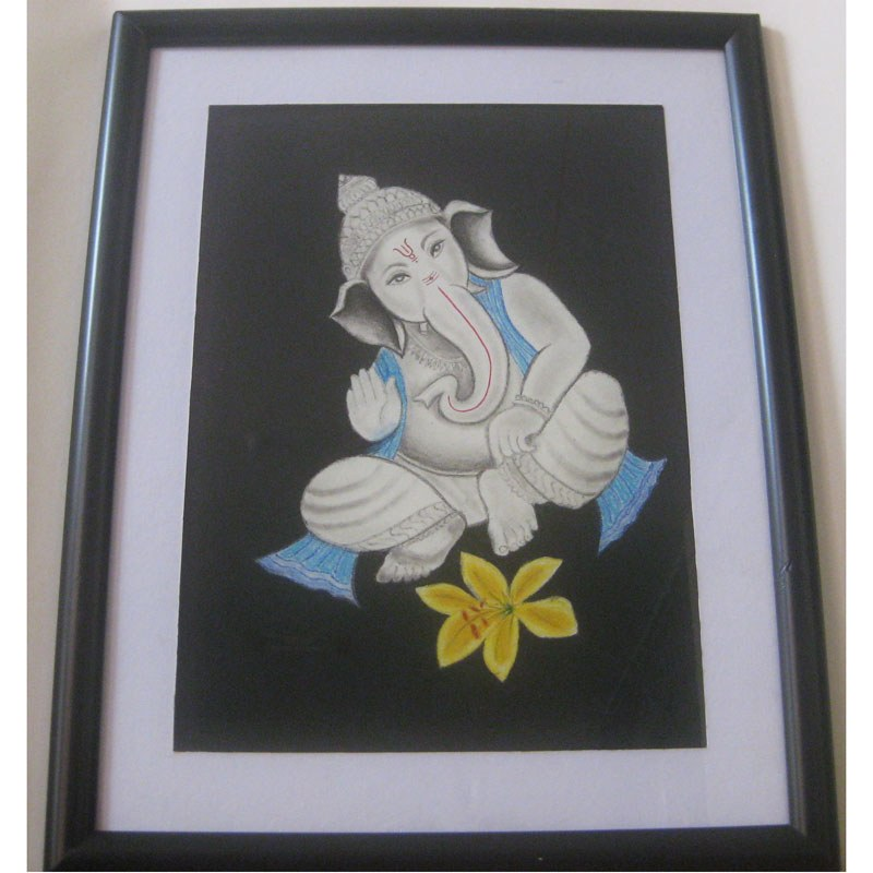Glass Painting Designs of Lord Ganesha Painting of Lord Ganesha