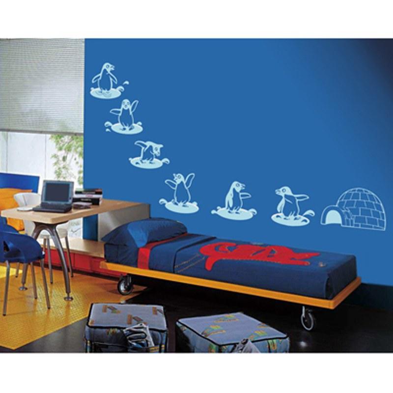 Penguins Wall Art Stick Silhouette Design Online Shopping