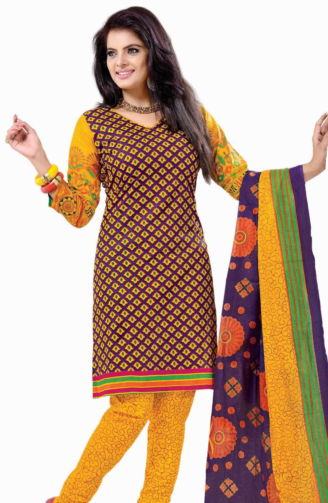 Printed Dress Material