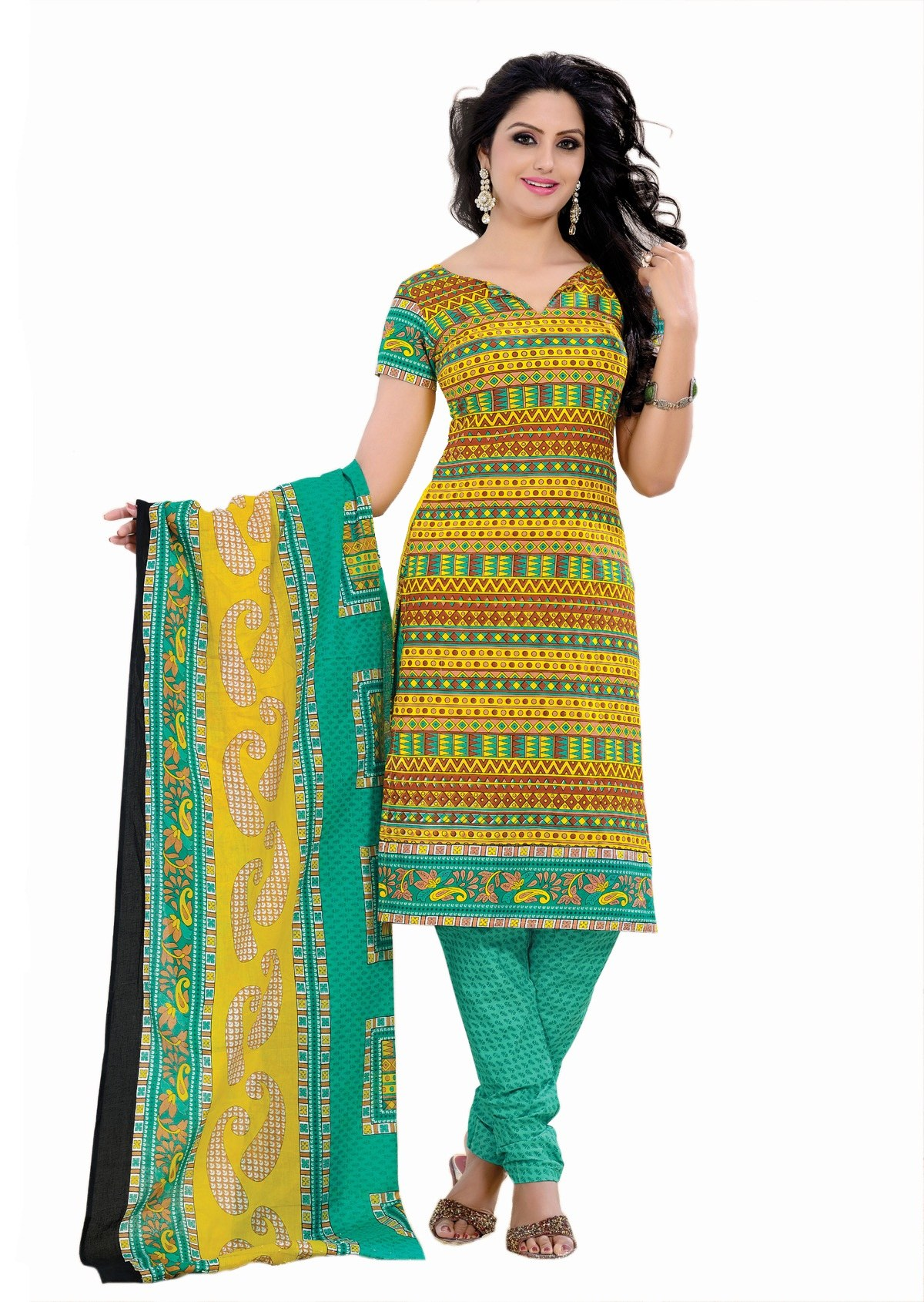 Cotton Dress Material With