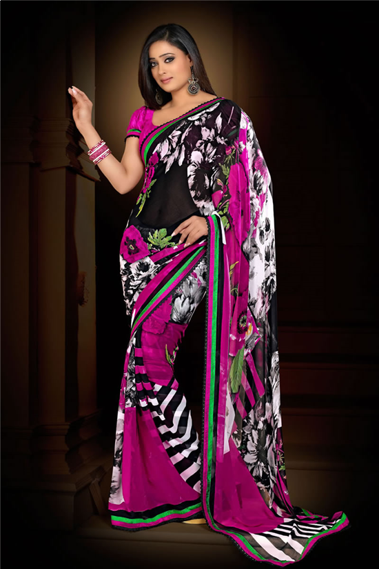 gallery for gt simple pink sari