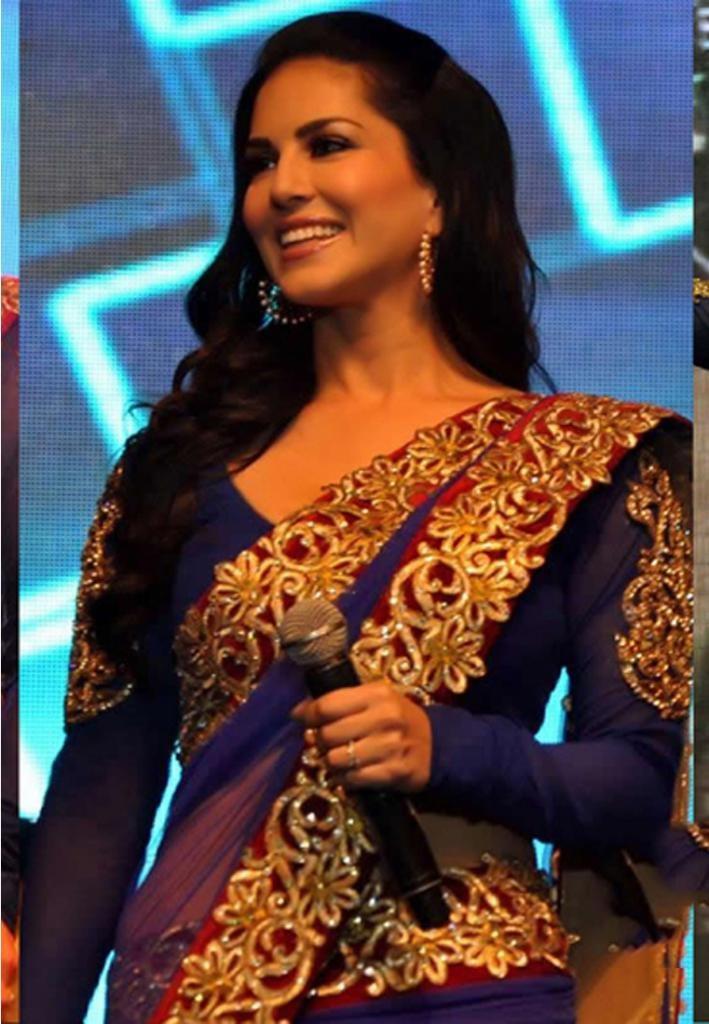 Snap Sunny Leone In Banarsi Saree Zeenat Style Photos On Pinterest