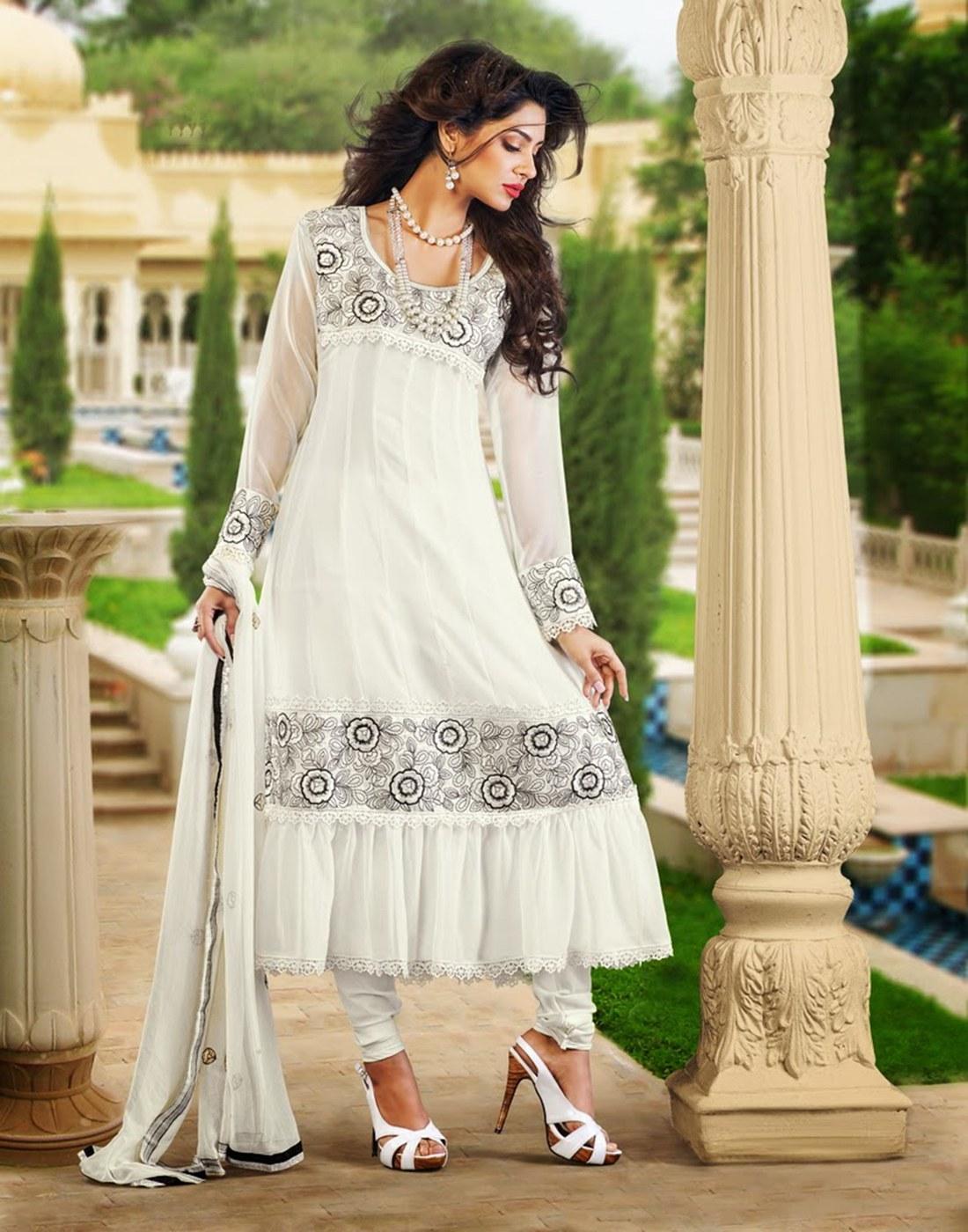 Variation White Salwar Kameez For Women - Salwar Suit by ...