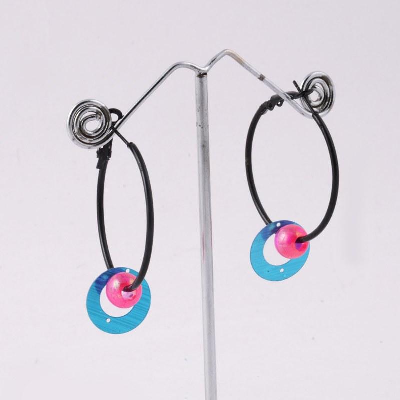 blue pink ring hanging earrings shopping