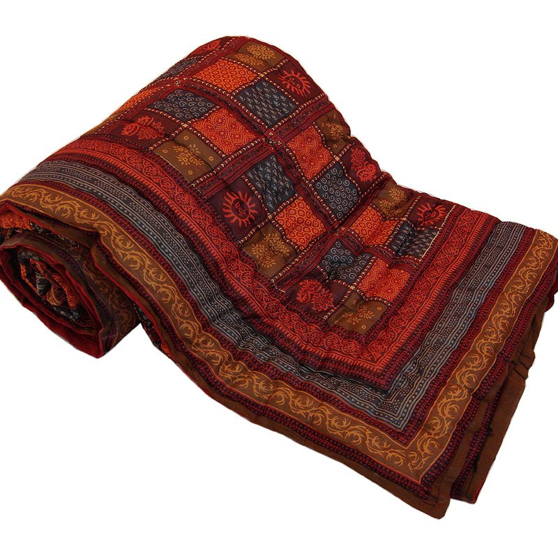 Jaipuri Print Cotton Double Bed Razai Quilt 301 Online