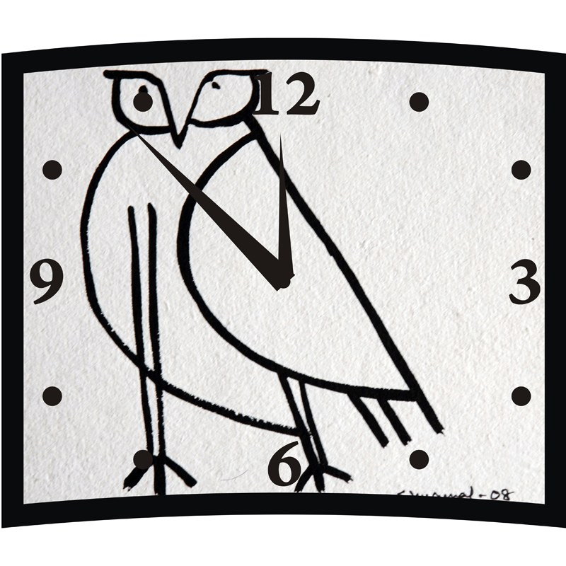 bird sketched wall clock online shopping