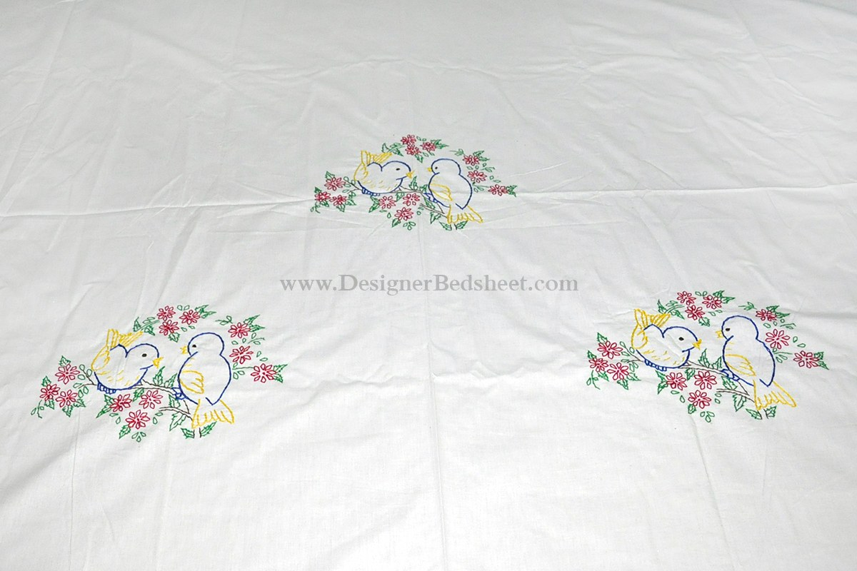 The Gallery For Gt Embroidery Designs For Bed Sheets For