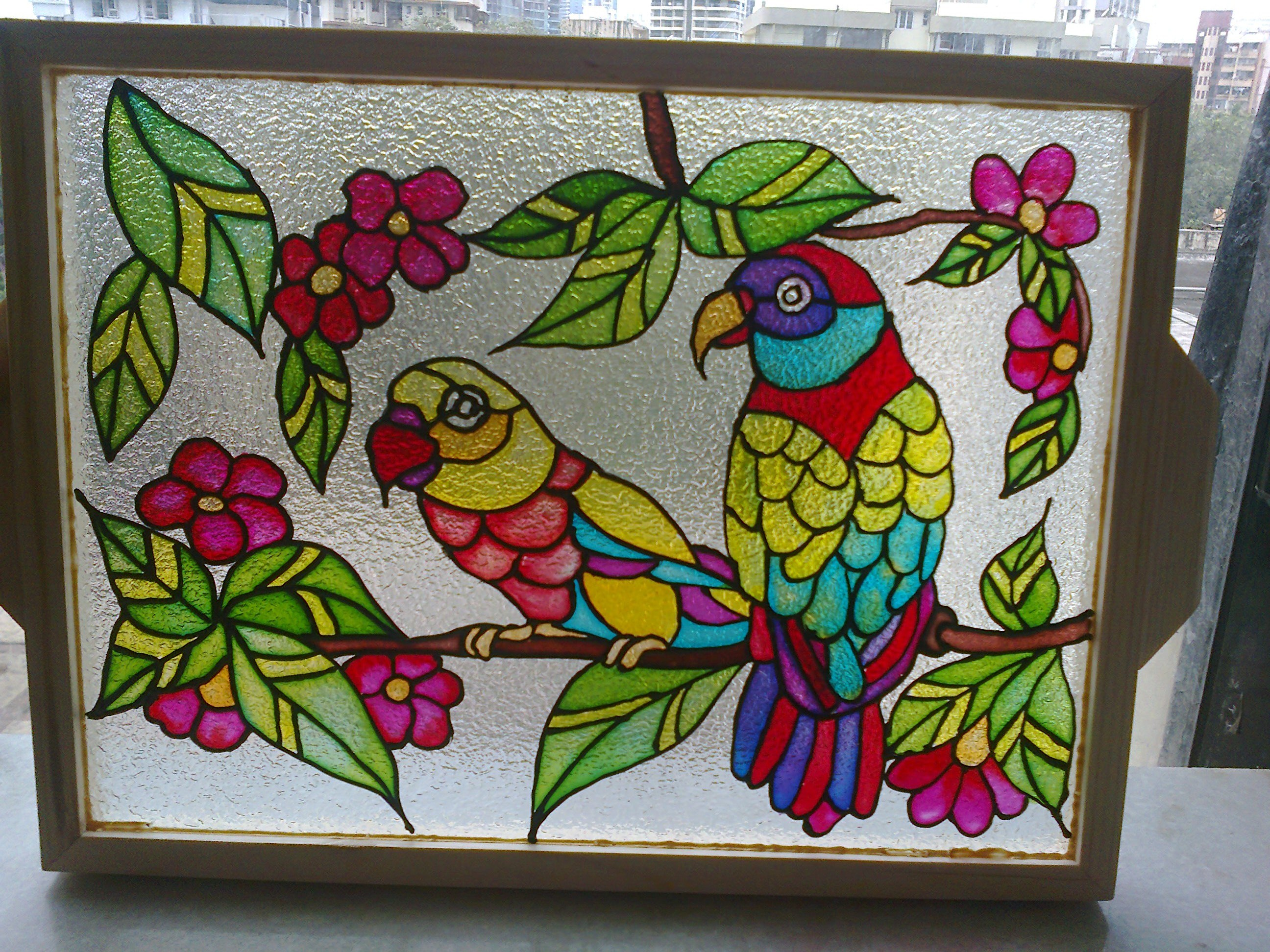 The gallery for glass painting designs for home for Beautiful painting designs