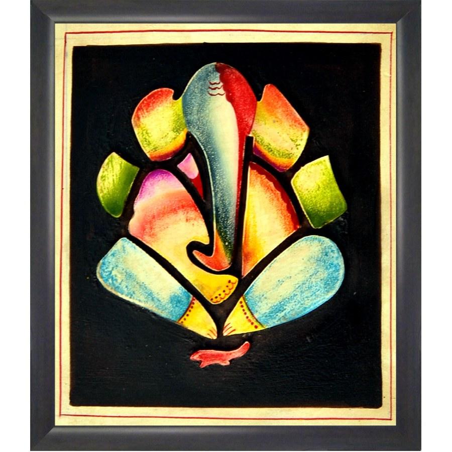 Charming colourful ganesha frame online shopping 1 - Painting tool avis ...