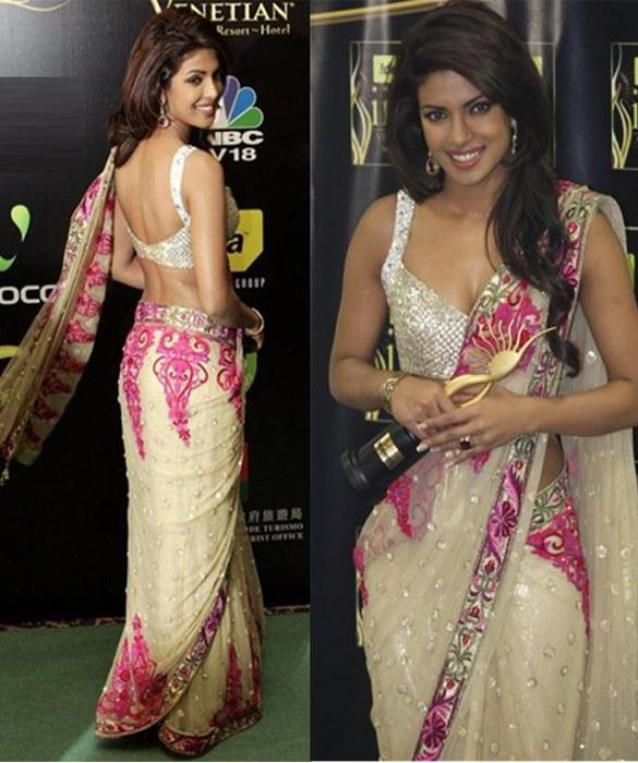priyanka chopra wearing saree - photo #7