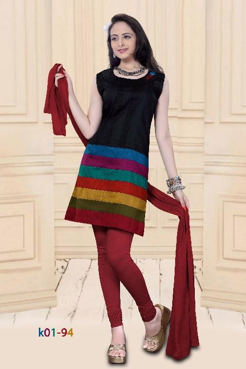 Cotton Kurti With Pattern Work On Bottom Online Shopping