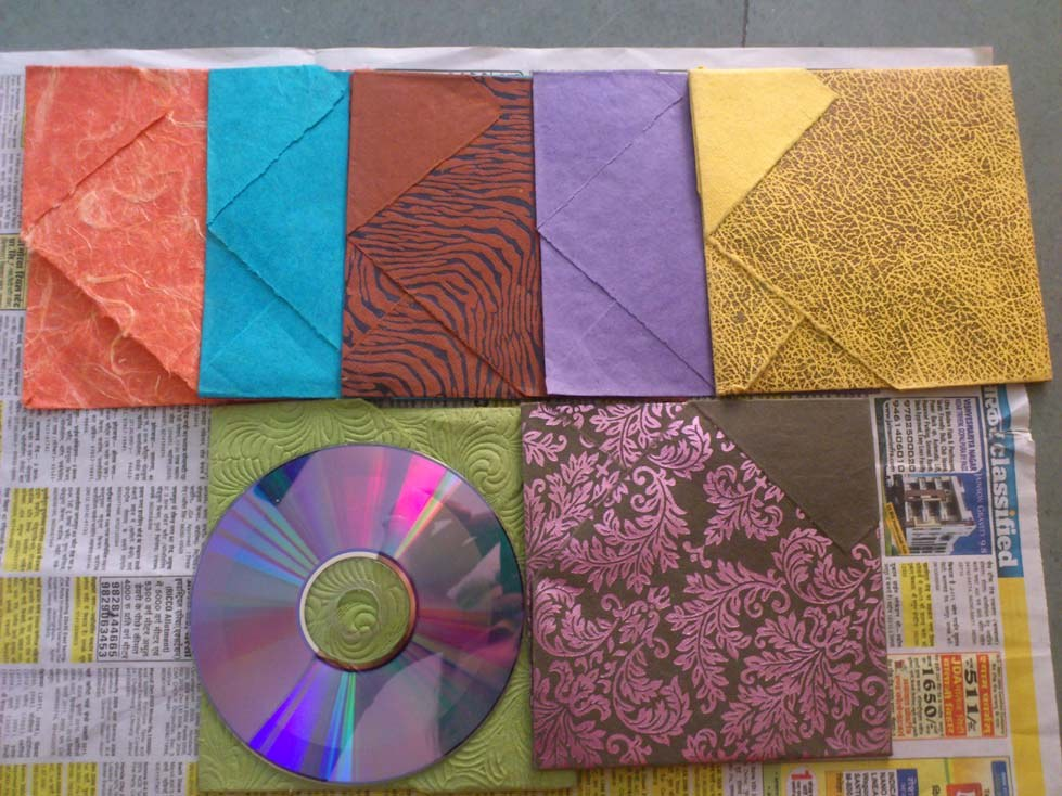 Hand made cd cover to keep your cd safe from dust online for Genesis decor international pvt ltd
